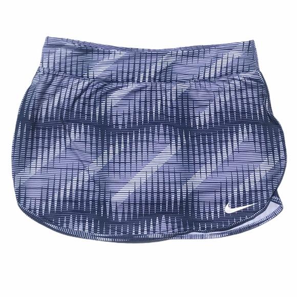Nike Blue Print Tennis Skirt Skort Size Medium
